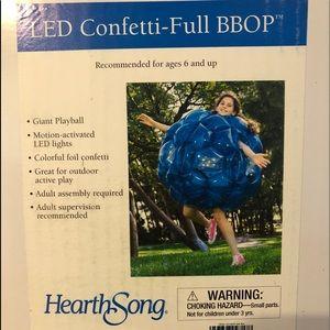 NIB led inflatable body bubble toy